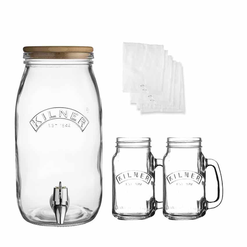 Kilner Kombucha Drink Set with Mugs & Muslin Cloths (0025.895) EU Preppers.com Copyright © All rights reserved. Kilner Jars / Rayware Group