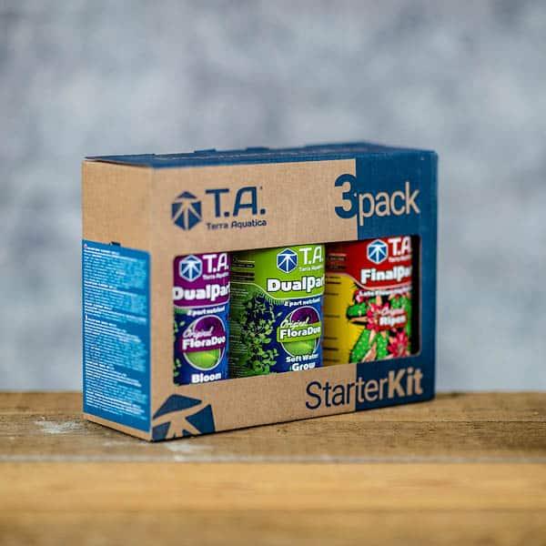 0.5 L x 3 DualPart 3pack StarterKit by TA/Terra Aquatica (Tripack by GHE)Copyright © Kristian Adolfsson / adolfsson.photo