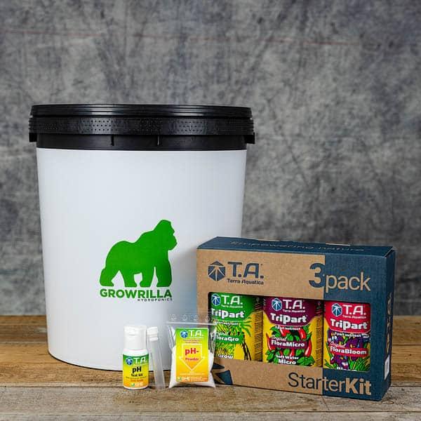 Growrilla Hydroponics Growing Kit DWC 1 x 19 liter container with TA Tripart Nutrients, pH test kit   GrowZone.seCopyright © Kristian Adolfsson / adolfsson.photo