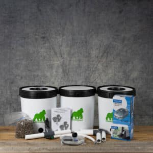 Growrilla Hydroponics RDWC 2(Recirculating Deep Water Culture) 3 x 19 liter containers | GrowZone.seCopyright © Kristian Adolfsson / adolfsson.photo