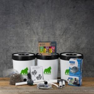 Growrilla Hydroponics RDWC 2, 3 x 19 liter containers, TA (Terra Aquatica) TriPart 3 Pack | GrowZone.seCopyright © Kristian Adolfsson / adolfsson.photo
