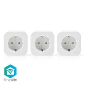 Nedis SmartLife Smart Plug x 3 WIFIP130FWT3 Schuko Type F Euro Smart Home Wifi (5412810313815)