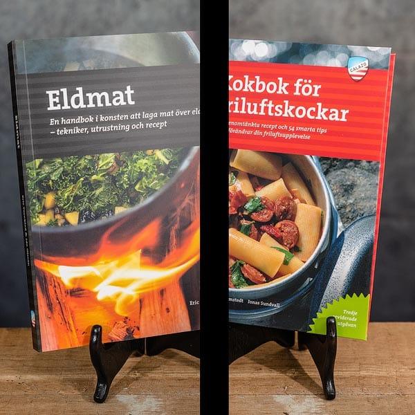 Eldmat Laga mat över lägereld Recept   Recipes & Kokbok för Friluftskockar   Cookbook for Outdoor Chefs Calazo förlag (9789188335234 & 9789188779779)