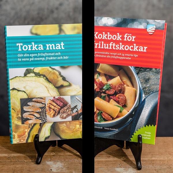 Torka mat   Dehydrate food & Kokbok för Friluftskockar   Cookbook for Outdoor Chefs, Calazo förlag (9789188335234 & 9789186773816)