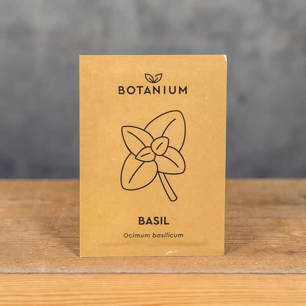 Botanium Självvattnande Kruka, Frön Basilika (Ocimum basilicum) | Self-watering planter / pot, Seeds Sweet Basil, GrowZone.se (7350096730026)