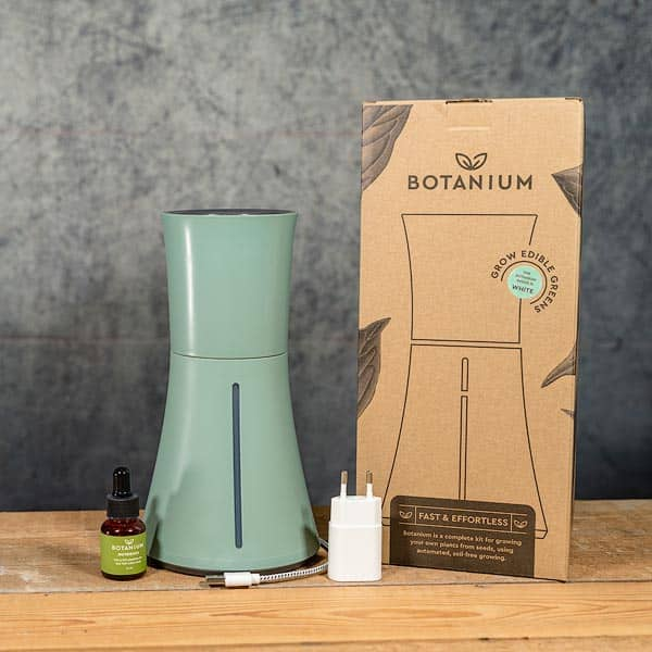 Botanium Självvattnande Kruka grön, innehåll | Self-watering planter / pot, Laurel green, contents, GrowZone.se Hydroponics