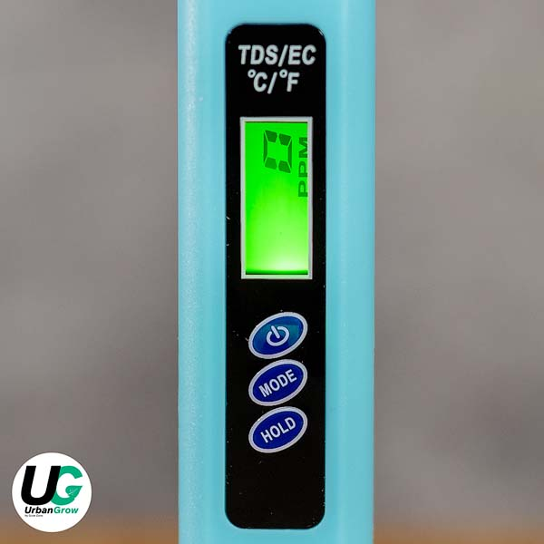EC / TDS meter w. Thermometer (C/F) | EC / TDS-mätare + Termometer (C/F), Urban Grow UGTDSEC1 by Grow Zone Scandinavia (growzone.se)