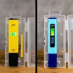 EC / TDS meter w. Thermometer (C/F) & pH meter | EC / TDS-mätare + Termometer (C/F) & pH-mätare, Urban Grow by Grow Zone Scandinavia
