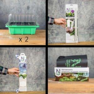 Mini green house germination kit