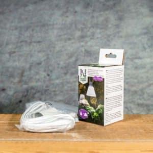 Växtbelysing 15 W LED-lampa & sladd | Kasviilamppu LED & Valaisinjohyo | Plantelys & Ledning | Vaekstbelysning & Lampeledning, E27, Nelson Garden
