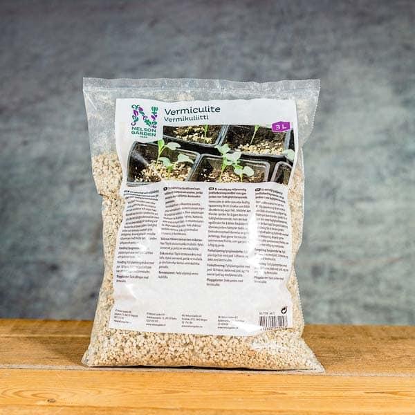 Vermiculite 3 liter Substrate enhancement   Substratförbättring, Nelson Garden 7124 (7312600071247), Grow Zone Scandinavia, growzone.se