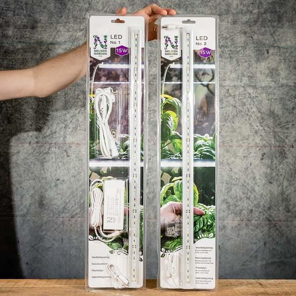 Nelson Garden LED no. 1 + LED No. 2 60 cm 15 W, Grow Light 5566 + 5568 | Växtbelysning, Grow Zone Scandinavia